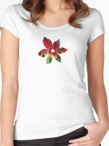 Red & Yellow Tulips Women's Fitted Scoop T-Shirt