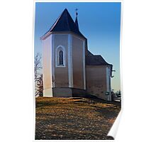 The village church of Hollerberg IV   architectural photography Poster