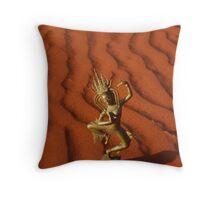 Desert Apsara Throw Pillow