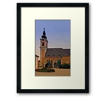 The village church of Scharten III | architectural photography Framed Print
