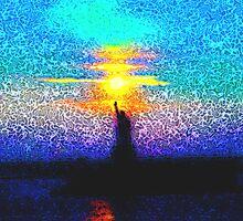 Lady Liberty Mosaic by Anya  Cristina