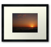 Red Sky At Night....... Framed Print