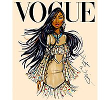 Vogue Pocahontas Photographic Print