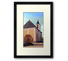 The village church of Putzleinsdorf I | architectural photography Framed Print