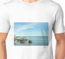 Rock Pool Fishing, Runswick Bay Unisex T-Shirt