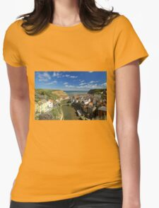 The Seaside Village of Staithes Womens Fitted T-Shirt