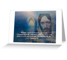 Revelation 3:20 Greeting Card