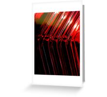 FLOW RED Greeting Card