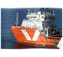 Oil rig supply vessel Rig Express. Poster