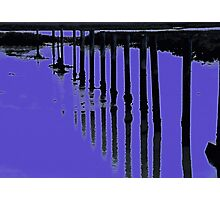 Blue Diffusion Photographic Print