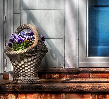 Basket of flowers by Mike  Savad