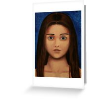 Acrylic Girl Greeting Card