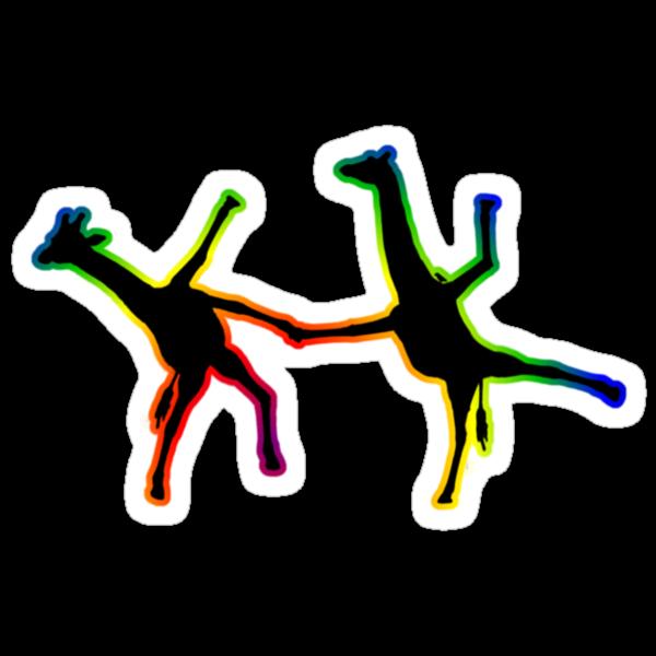 Happy Dancing Giraffes - Colour by Matt West