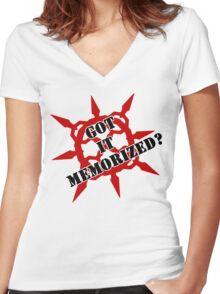Got it memorized? Women's Fitted V-Neck T-Shirt