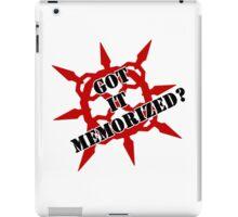 Got it memorized? iPad Case/Skin