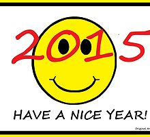 """Have a Nice Year"" New Year's Card 2015 by Jana Gilmore"