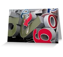 Alphabet Soup Greeting Card