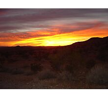 Days End Mojave Photographic Print