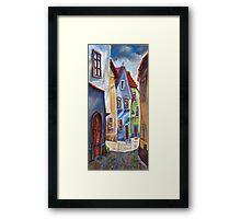 Cesky Krumlov Old Street 1 Framed Print