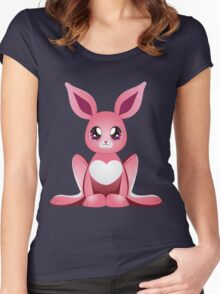 Pink bunny 2 Women's Fitted Scoop T-Shirt