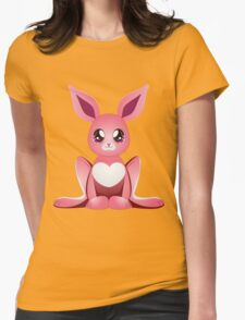 Pink bunny 2 Womens Fitted T-Shirt