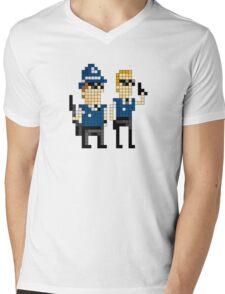 Hot Fuzz - Pixel Art Mens V-Neck T-Shirt