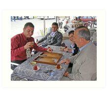 Tavla (Turkish Backgammon) Art Print