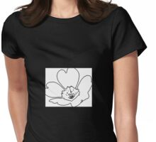 Black and White Abstract Flower T-Shirt