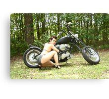 Bike shoot Canvas Print