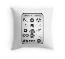 Elements of a Superhero  Throw Pillow