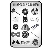 Elements of a Superhero  Photographic Print