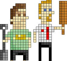 Shaun of the Dead - Pixel Art by NineLineMan