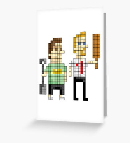 Shaun of the Dead - Pixel Art Greeting Card