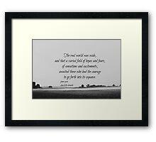 Jane Eyre World Framed Print