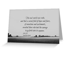 Jane Eyre World Greeting Card