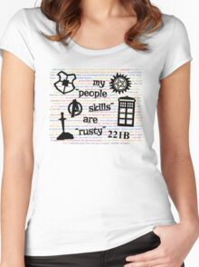 "My ""People Skills"" are ""Rusty"" V2 Women's Fitted Scoop T-Shirt"