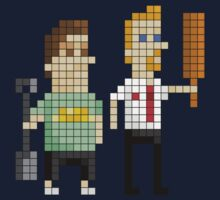 Shaun of the Dead - Pixel Art Kids Clothes