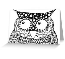 My Name is Wise Owl Greeting Card
