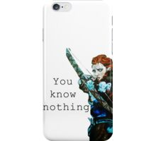 Game of Thrones- Ygritte, You know nothing iPhone Case/Skin