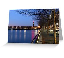 Clock tower Hoboken ! Greeting Card