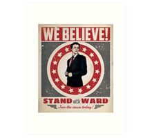 Stand With Ward Art Print