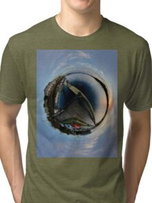 Foyle Marina at Dawn, Stereographic Tri-blend T-Shirt