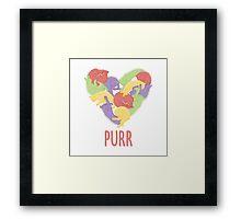 Purr Framed Print