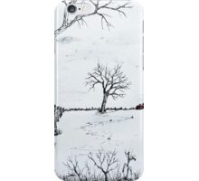 Twin Birch Fence Line iPhone Case/Skin