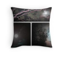 full moon collage Throw Pillow