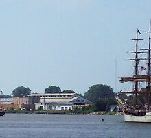 S/V Denis Sullivan and Europa - Parade of Sail by Francis LaLonde