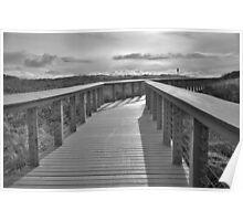 Walkway at the Oregon Coast. Poster
