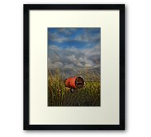 between the wish and the thing, life lies waiting Framed Print