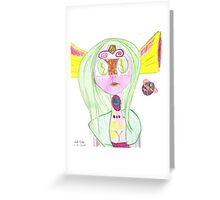 Alien Lady Greeting Card