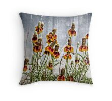 Mexican Hat Flower•*¨`*• Throw Pillow